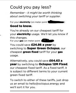 octopus energy bill